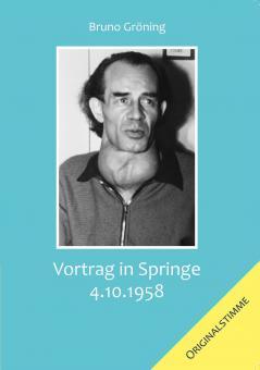 CD: Vortrag Springe 3. Oktober 1958