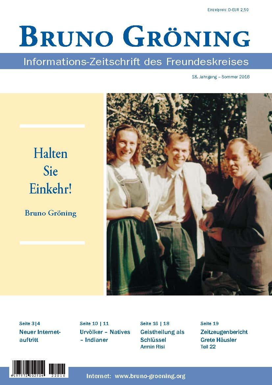 Kg 99 Magazines: Zeitschrift Bruno Gröning - Sommer