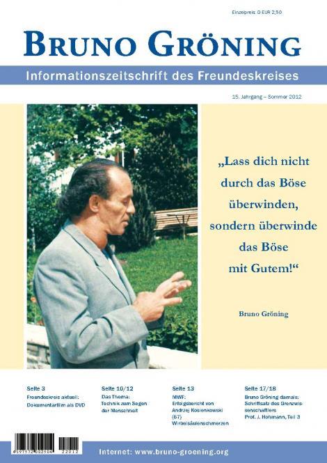 Zeitschrift Bruno Gröning -Sommer 2012 - deutsch